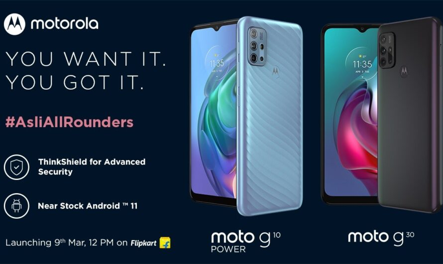 Motorola Moto G10 Power and Moto G30 India launch confirmed for March 9!